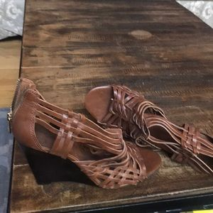 Tory Burch Leather Wedge Heels